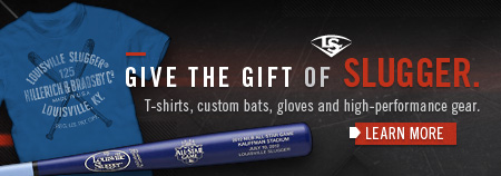 GIVE THE GIFT OF SLUGGER T-shirts, custom bats, gloves and high-performance gear