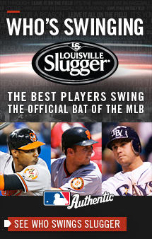 WHO'S SWINGING SLUGGER The Best Players Swing The Official Bat of the MLB